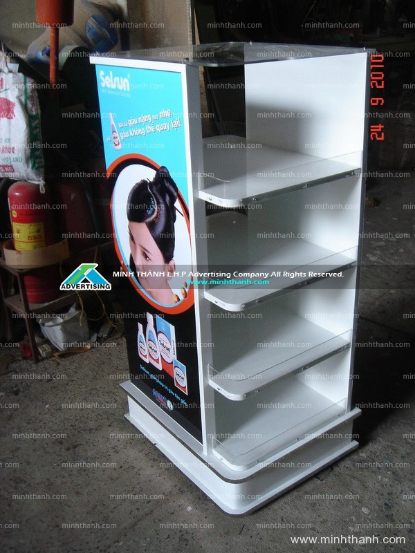 Selsun products short display shelf