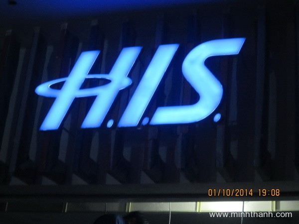 HIS LED light dimensional letters signboard