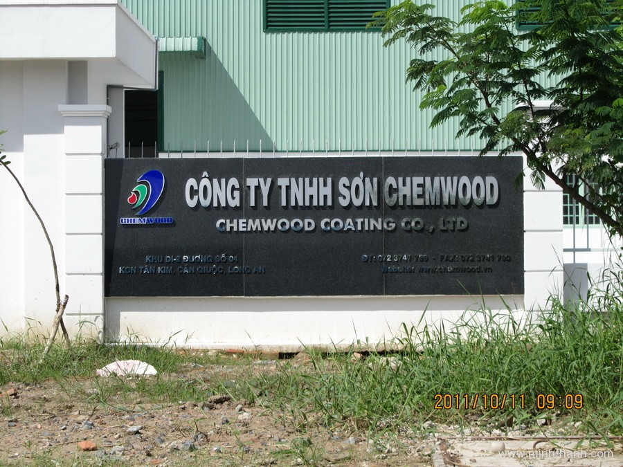 CHEMWOOD Stainless steel dimensional letters
