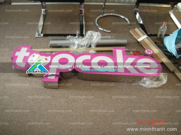 Topcake light box logo