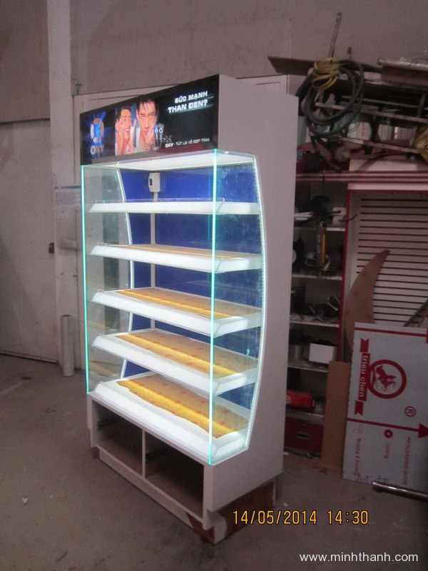 Manufacturing supermarket shelves for Oxy Co.op mart Nguyen Kim