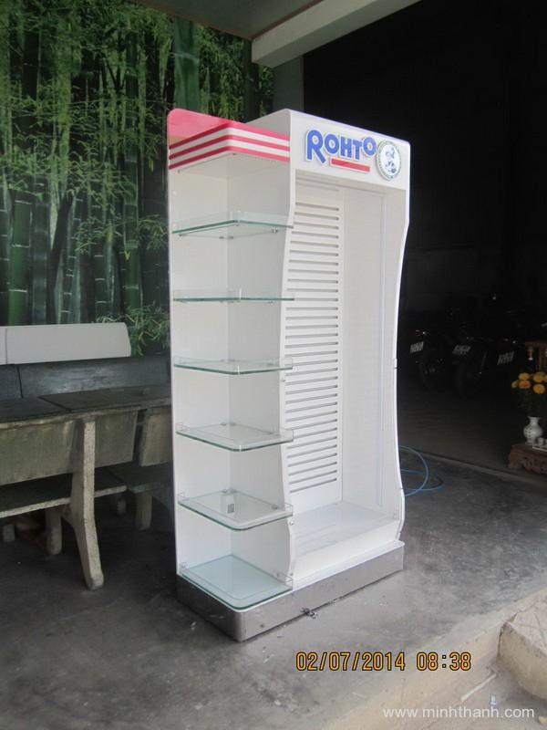 Sản xuất đầu kệ siêu thị Rohto Nha Trang