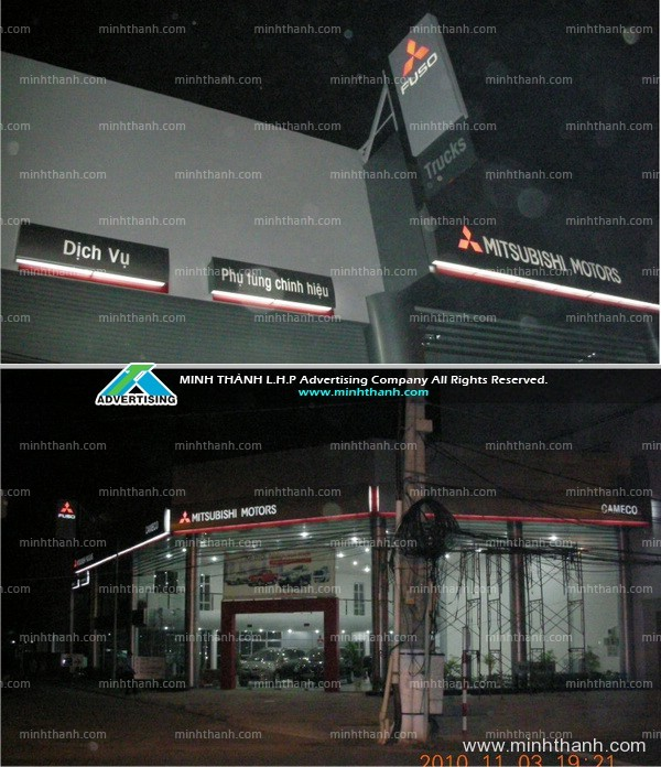 Mitsubishi Can Tho advertising signboard
