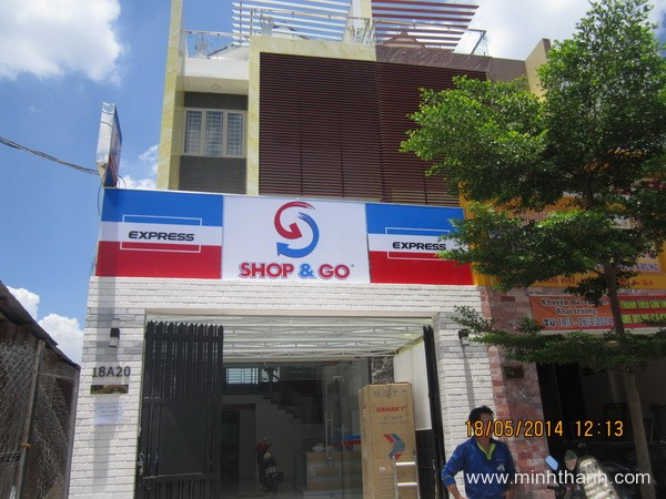 Construction of advertising signs shop GO /1