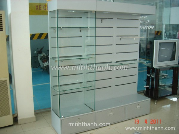 Produce aluminium shelf to display Mitsubishi car parts