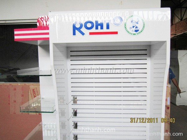 Manufacturing supermarket shelves Rohto