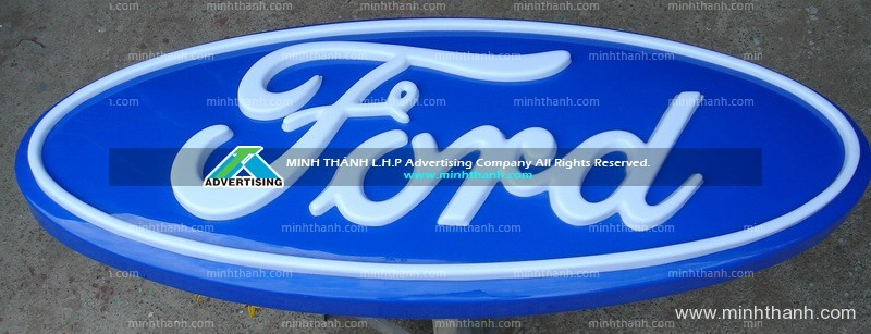 Ford logo acrylic embossed