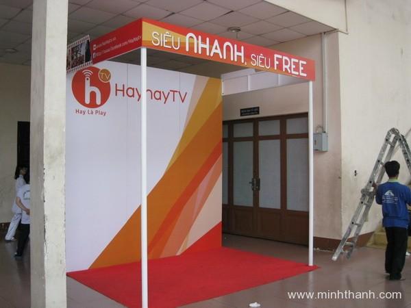 Trang trí gian hàng hội chợ cơ bản cho Hayhaytv