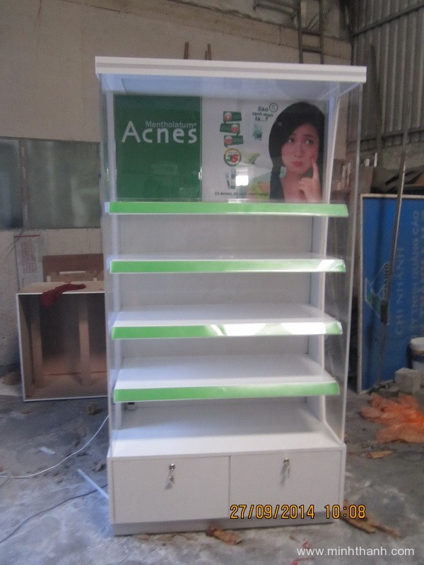 Manufacturing supermarket Acnes shelves  for Coop My Tho