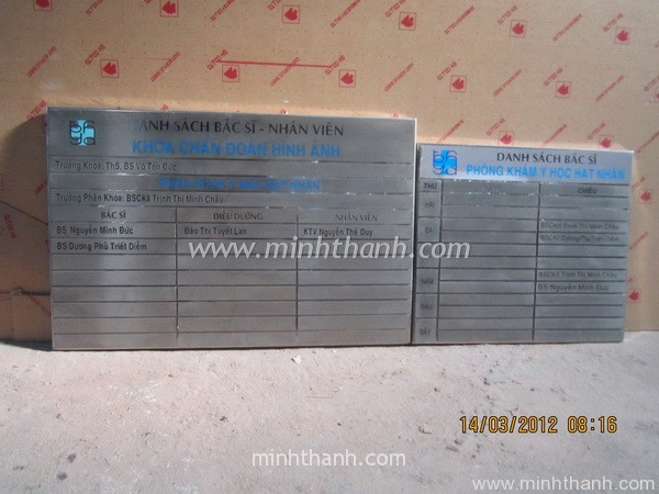 Produce types of name plate / direction board