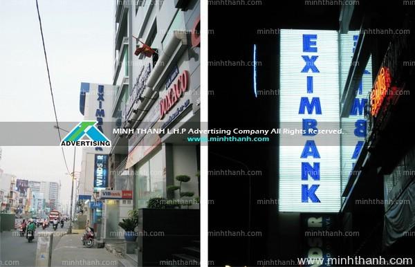 Bảng hiệu neon EXIMBANK