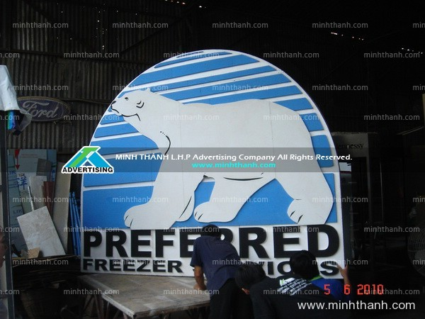 Antara foam logo for exhibition booth
