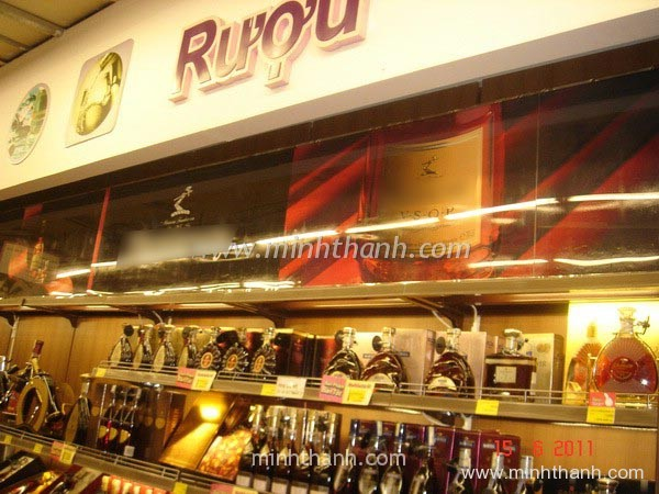 Manufacturing display cabinets display wine for supermarket