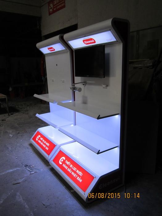 Sản xuất kệ trưng bày sản phẩm cao cấp Cleansui
