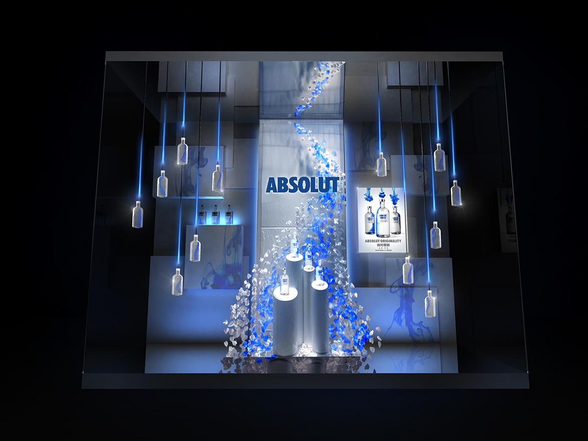 Tủ quầy kệ rượu Absolut Originality