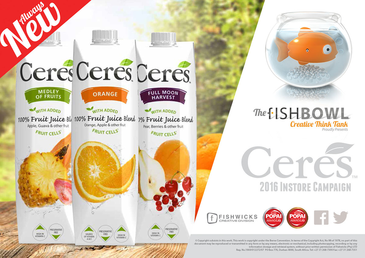 Kệ tủ quầy trưng bày POSM nước trái cây Ceres