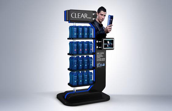 Kệ trưng bày sản phẩm Clear
