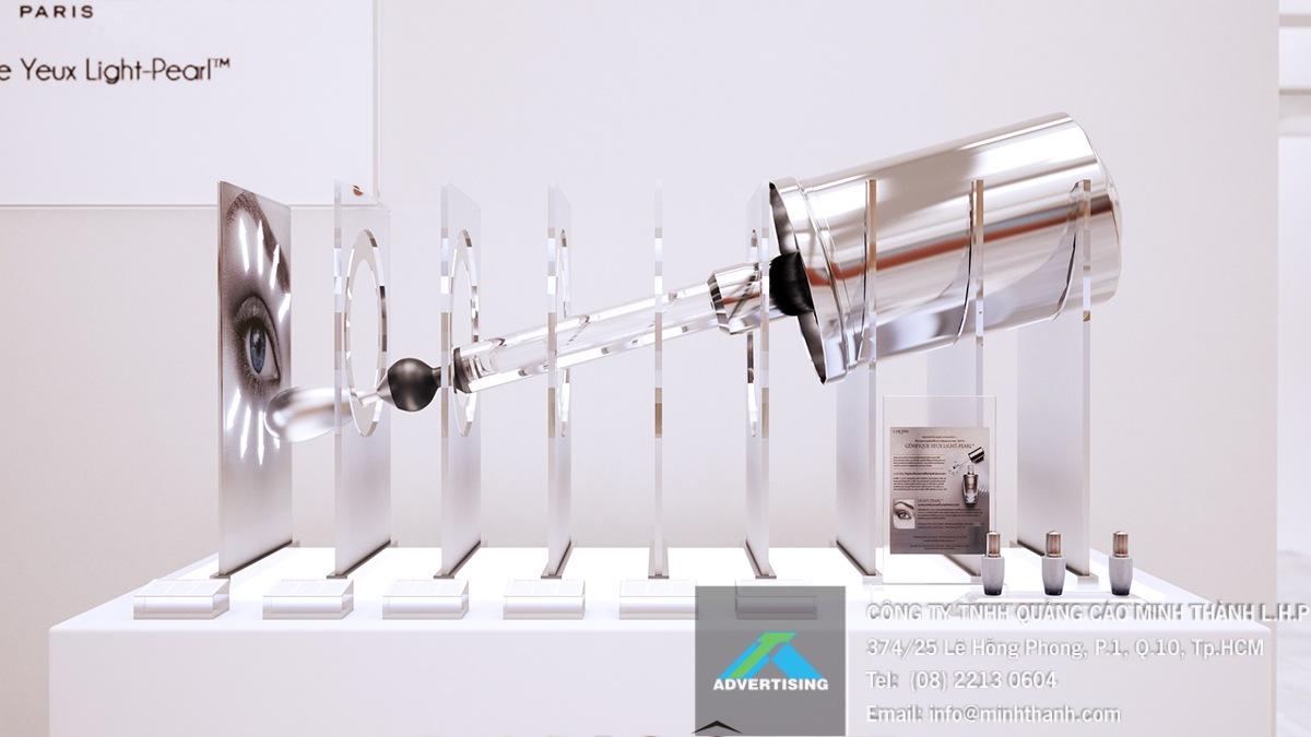 Bàn trưng bày Lancome Genifique Light Pearl