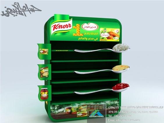 Mẫu kệ trưng bày sản phẩm Knorr