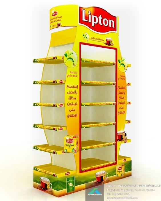 Mẫu kệ trưng bày Lipton