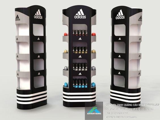 đầu kệ trưng bày Adidas