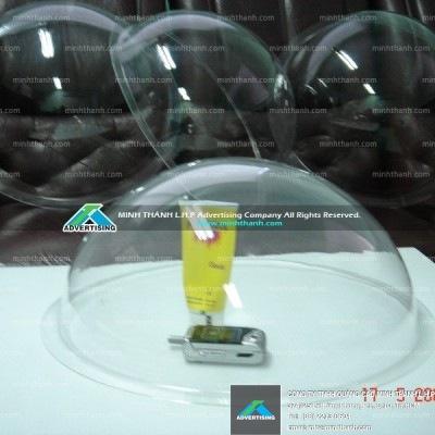 3D circular hemisphere acrylic pressed