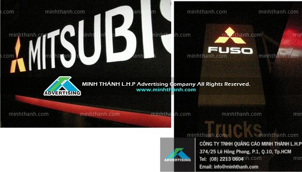 Manufacturing Mitsubishi Fuso Can Tho signboard