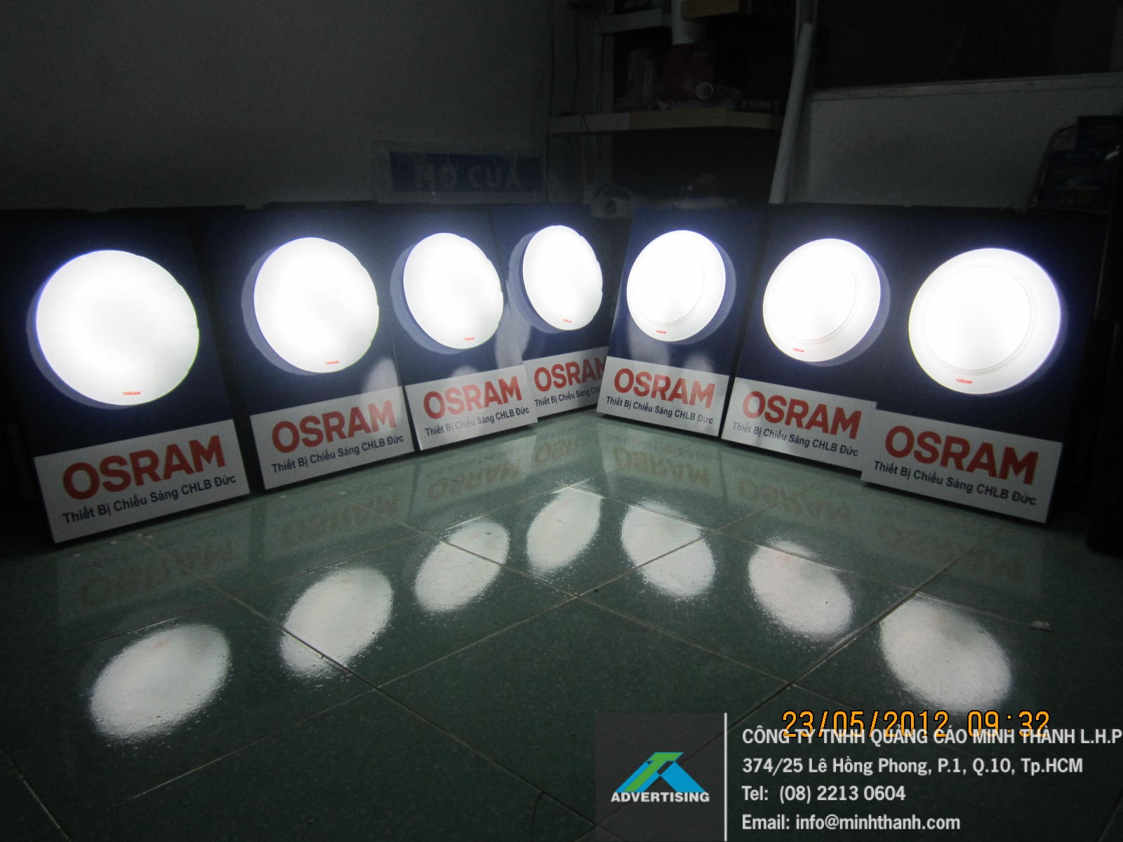 Manufacturing POSM sample Osram ceiling lamp