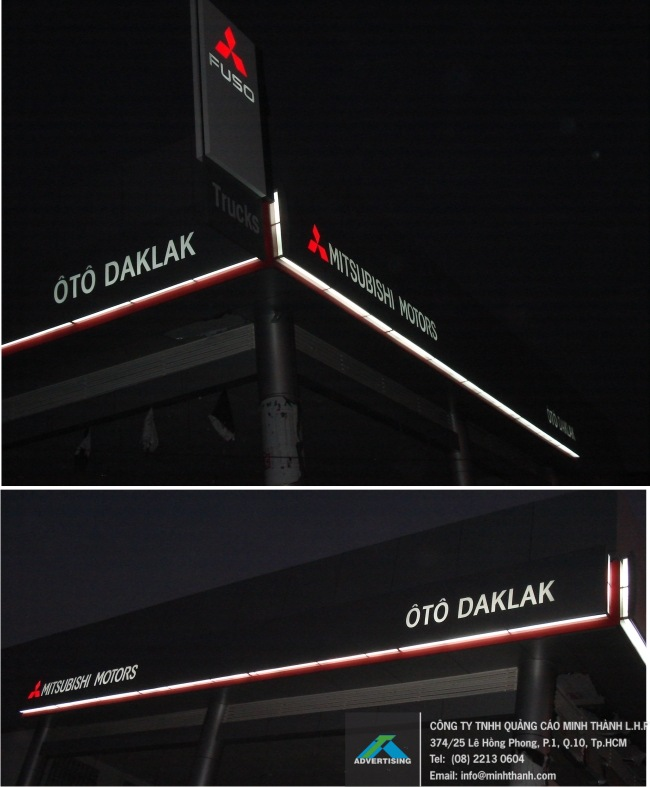 Produce Mitsubishi FUSO Daklak and provinces in Vietnam signboards
