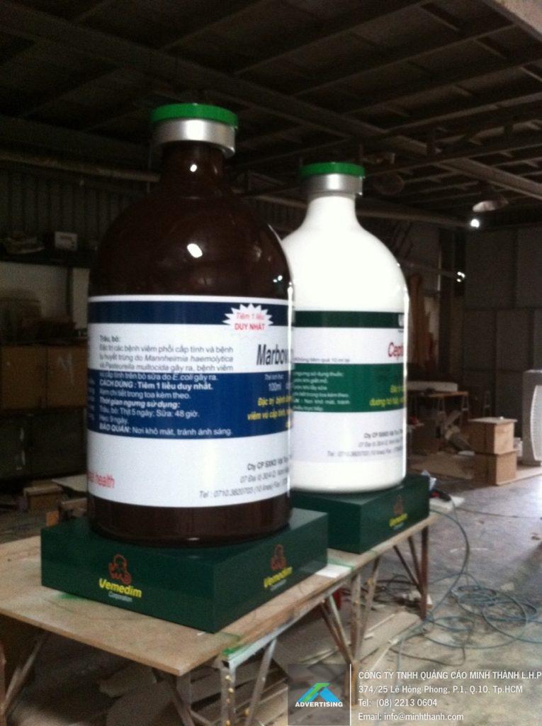 Sản xuất mô hình posm chai thuốc vemedim