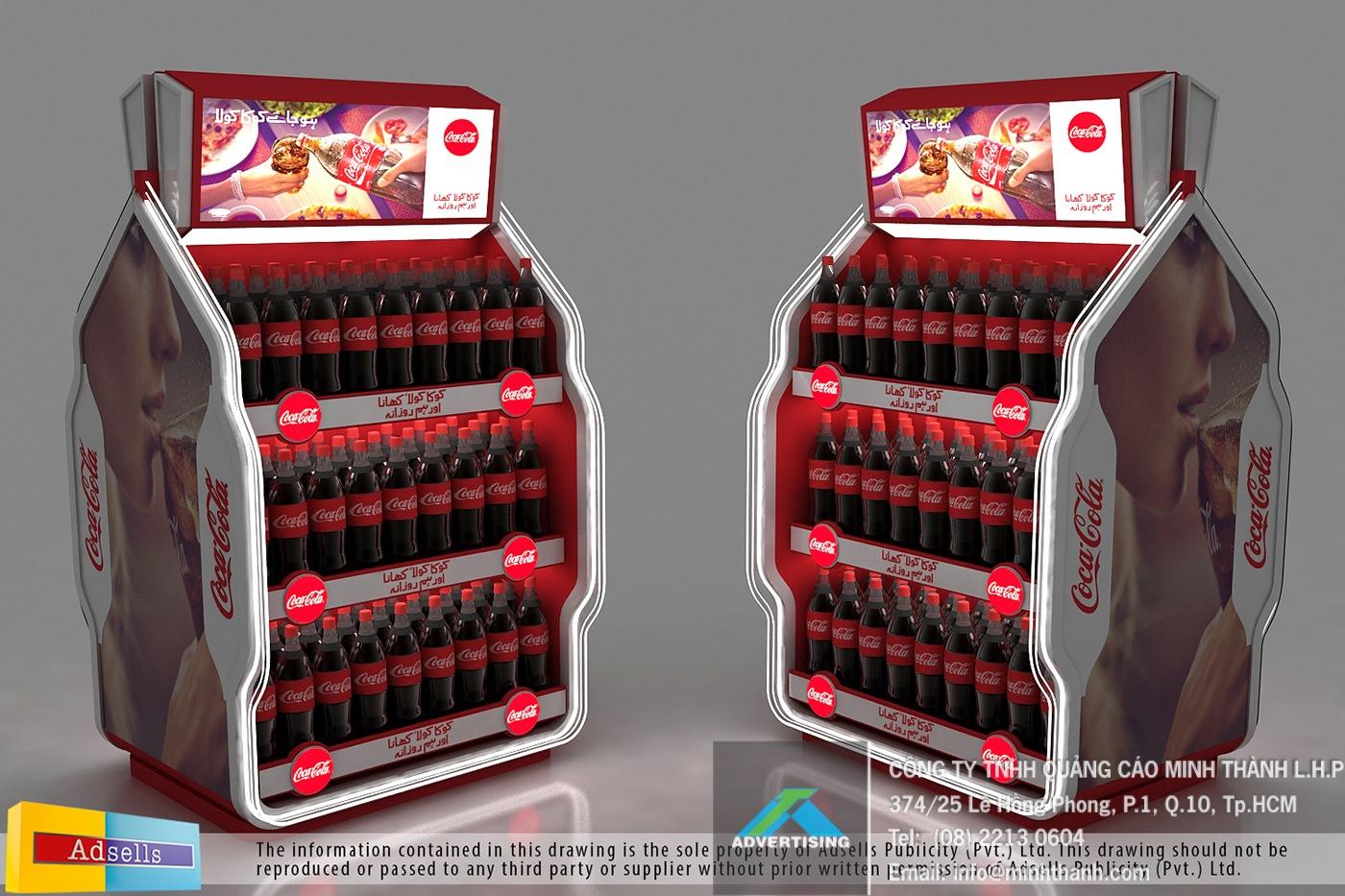 kệ trưng bày Coke