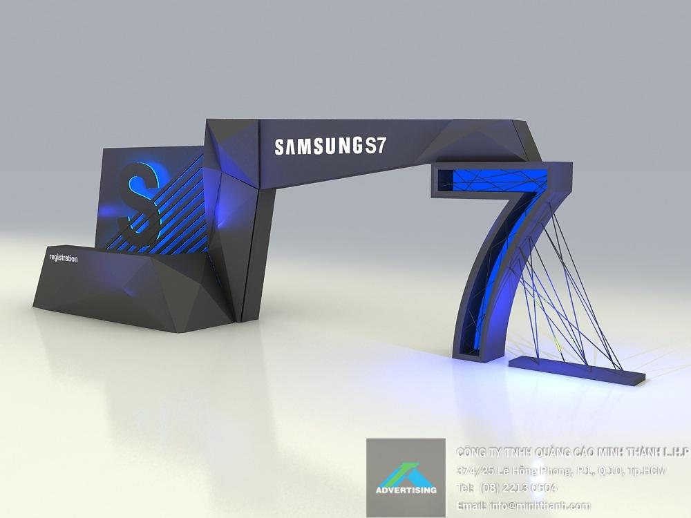 Mẫu thiết kế sự kiện Samsung ra mắt S7