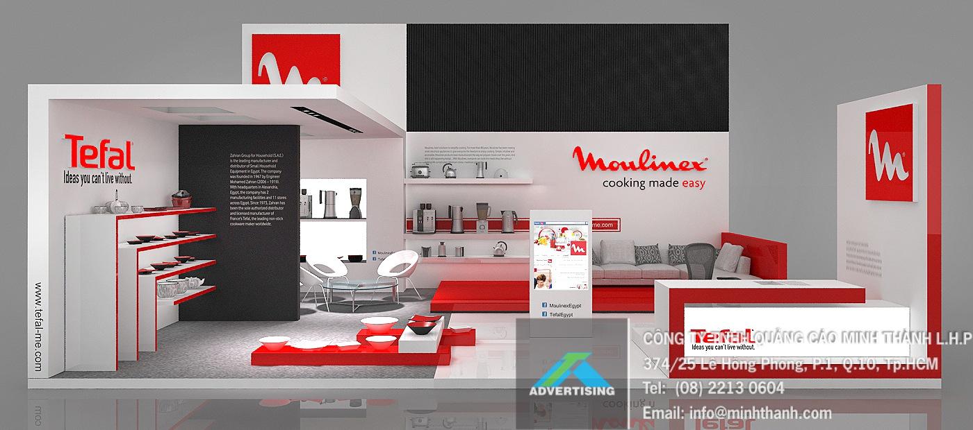 Mẫu thiết kế Gian hàng nội thất nhà bếp Tefal