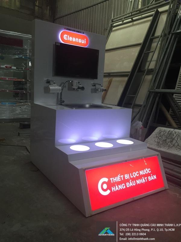 Sản xuất Kệ trưng bày siêu thị Cleansui