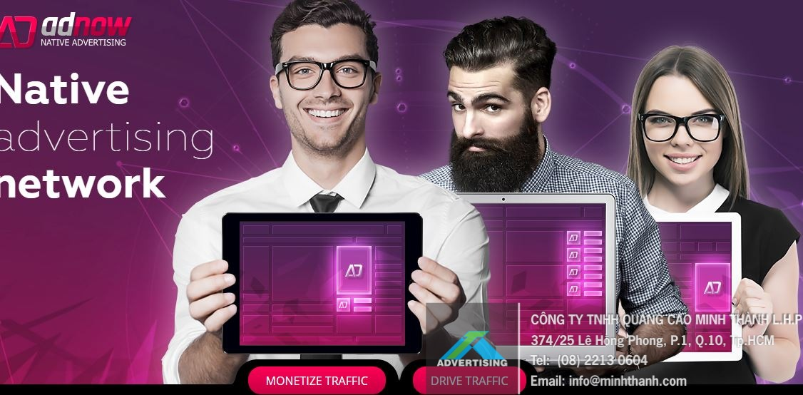 Quảng cáo Adnow thay thế Google Adsense, kiếm 1000$ mỗi tháng