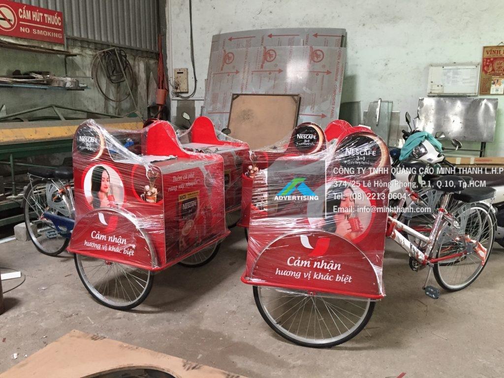 Sản xuất xe đạp chạy Event activation NesCafe