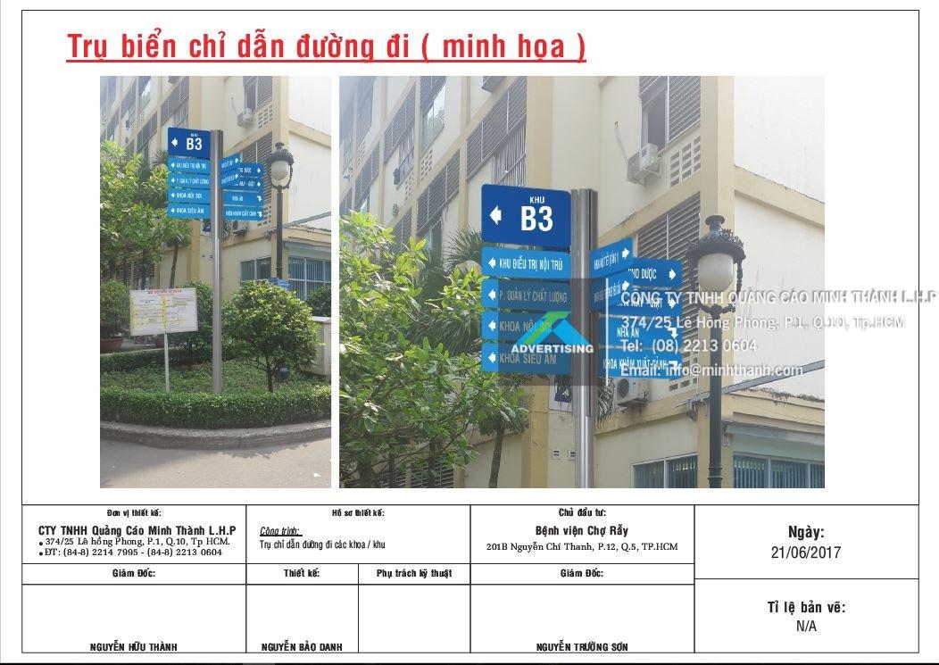 Thiết kế quy hoạch bảng chỉ dẫn Bệnh Viện Chợ Rẫy