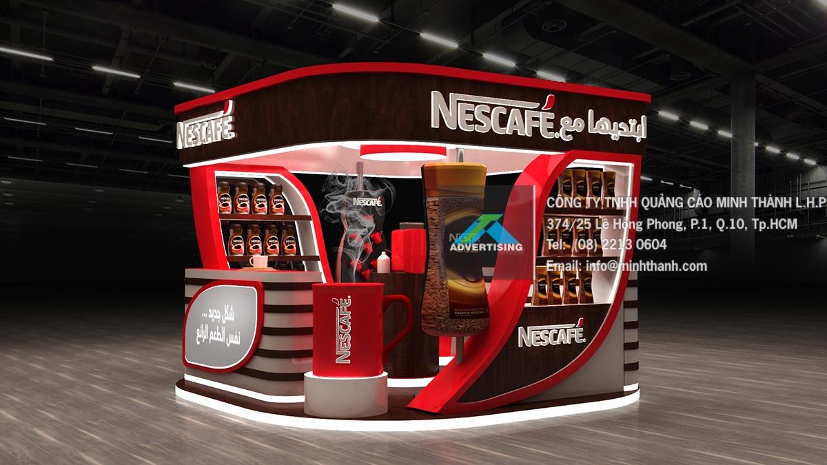 Mẫu gian hàng Nescafeَ