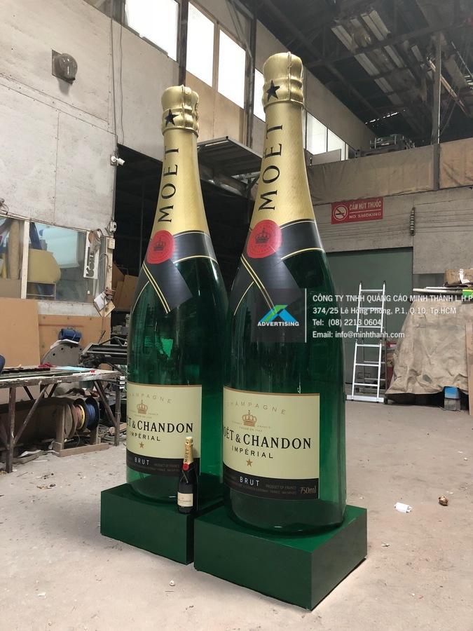 Sản xuất mô hình chai rượu Moet
