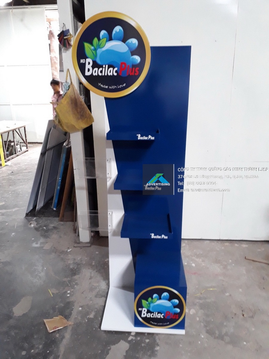 Sản xuất kệ trưng bày sản phẩm Bicalac Plus