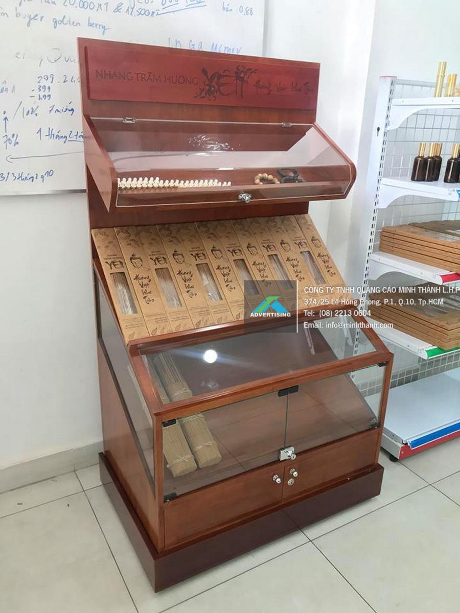 Sản xuất tủ trưng bày nhang trầm hương