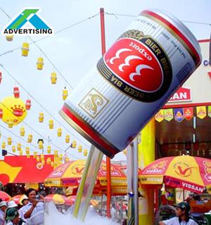 Mô hình lon bia 333 khổng lồ