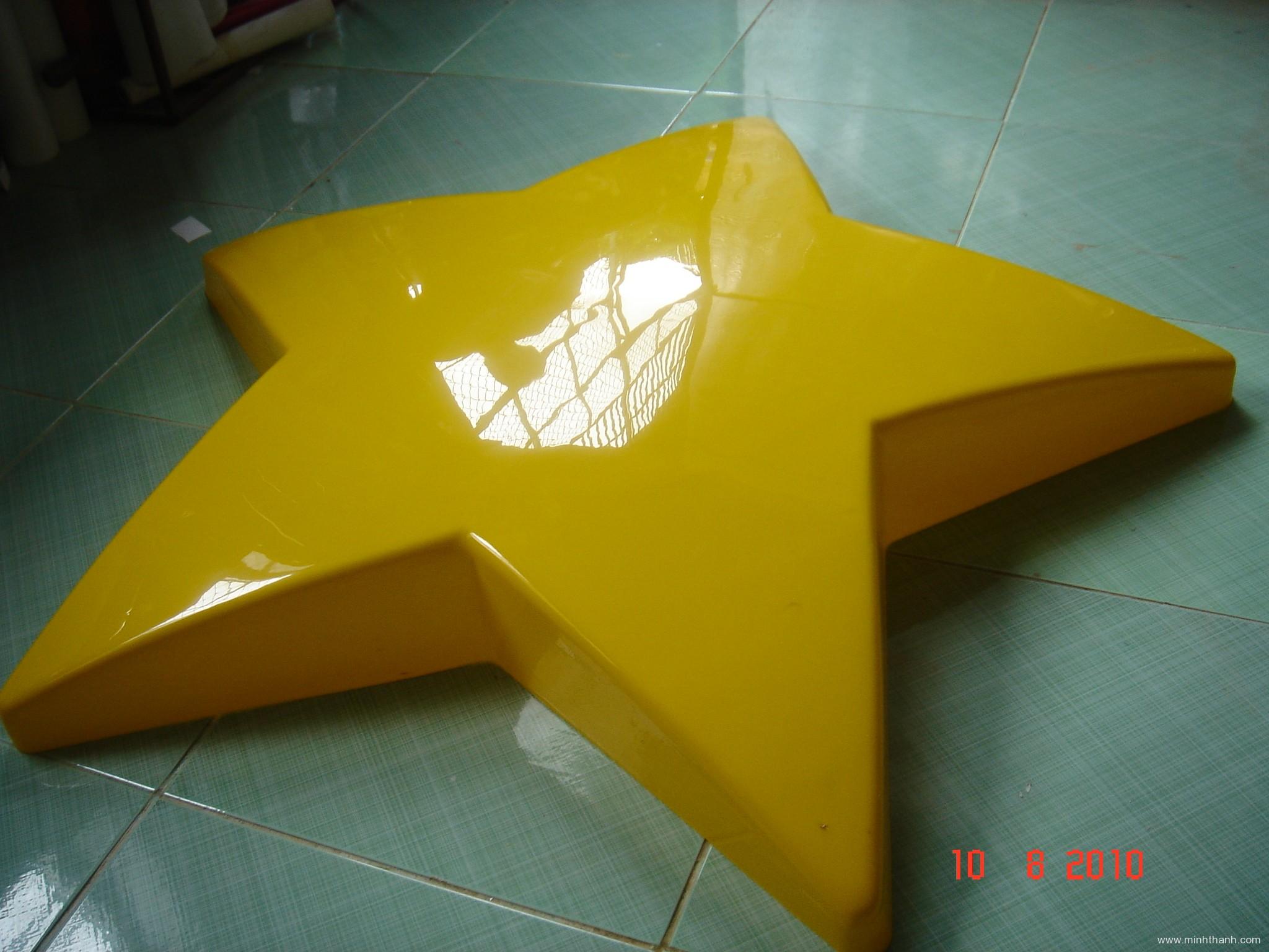 Logo ngôi sao mica ép nổi