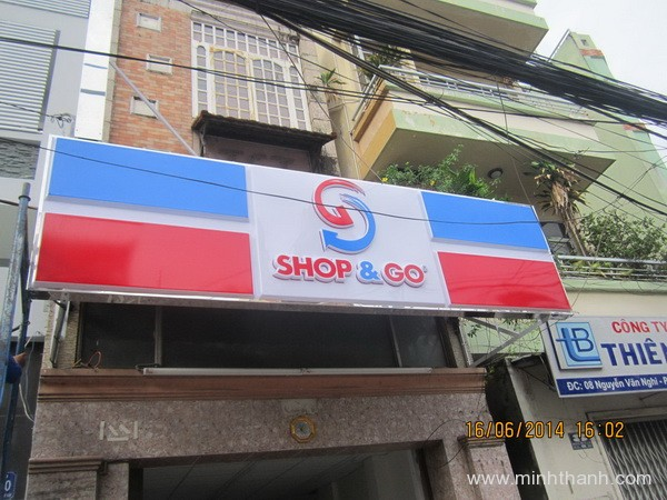 Construction of advertising signs Shop GO – Nguyễn Văn Nghi