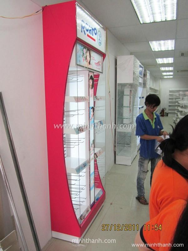 Manufacturing Rohto /2 supermarket shelves