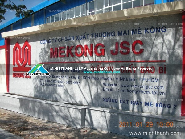 Designing and construction of industrial zone signs