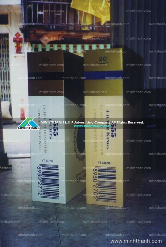 Mô hình sản phẩm hộp thuốc 555