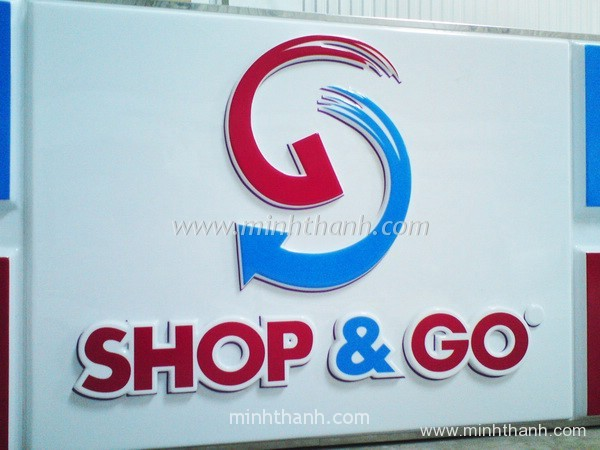 Construction Shop & Go light box signs