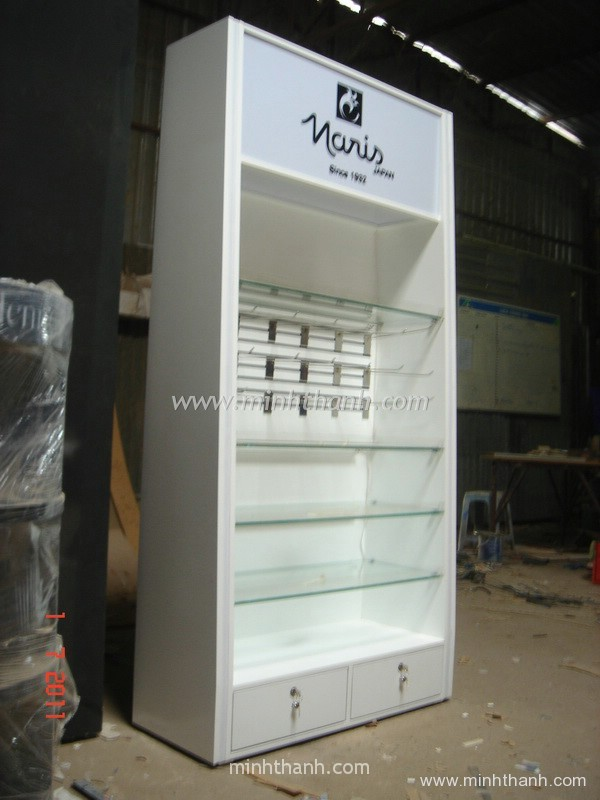 cosmetics display cabinet for the supermarket  / Naris