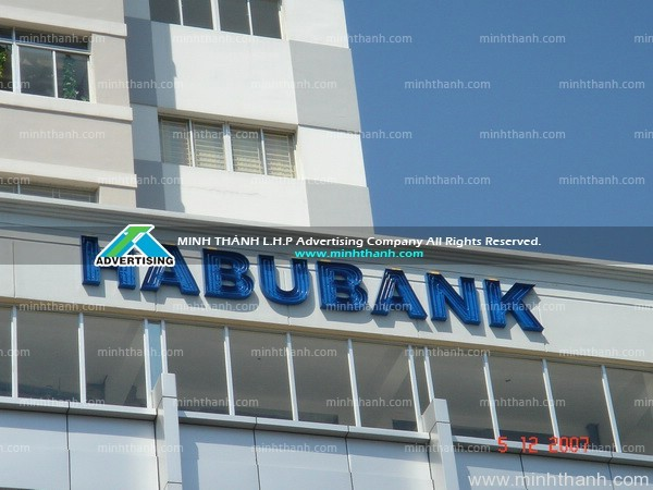 HABUBANK neon dimensional letters signboard
